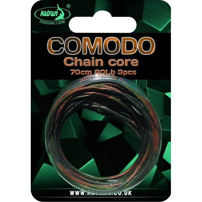 Ледкор (чейнкор) KATRAN COMODO, 3 броя по 70 cm, кафяв цвят | www.CARPMOJO.com