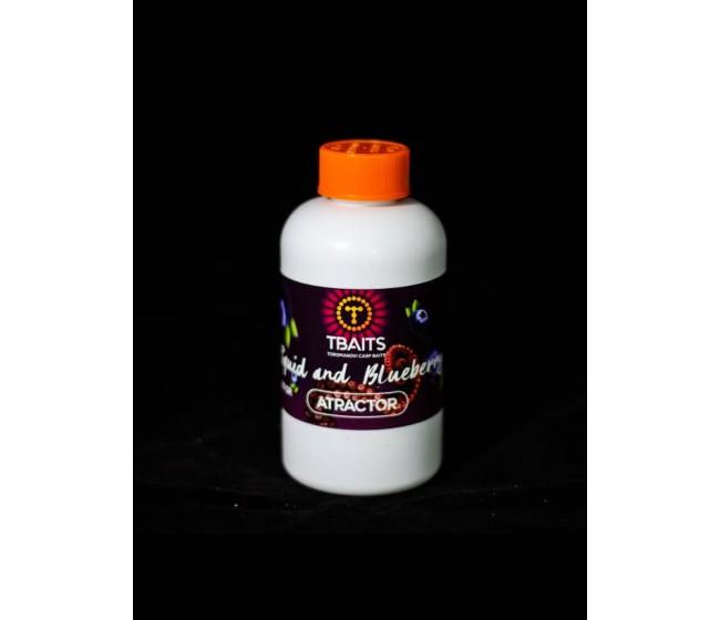 Атрактор T-BAITS Squid & Blueberry, 200 ml | www.CARPMOJO.com
