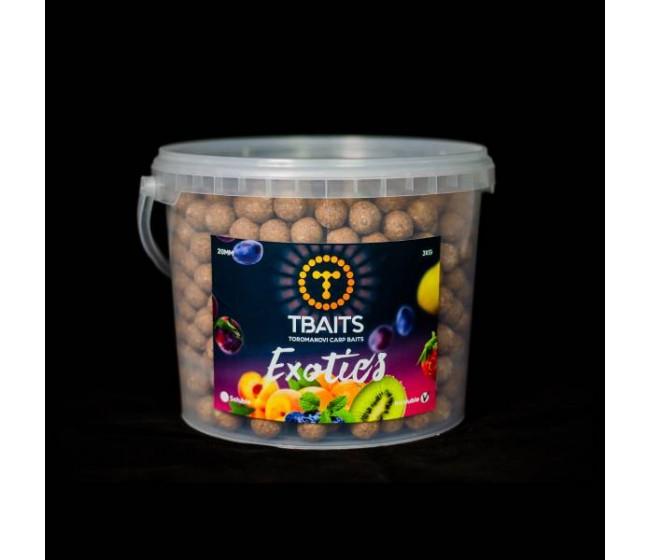 Кофа протеинови топчета T-BAITS Exotics fruits, 20 mm, 3 kg | www.CARPMOJO.com