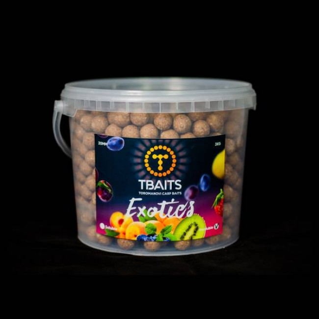 Кофа протеинови топчета T-BAITS Exotics fruits, 20 mm, 3 kg | www.CARPMOJO.com