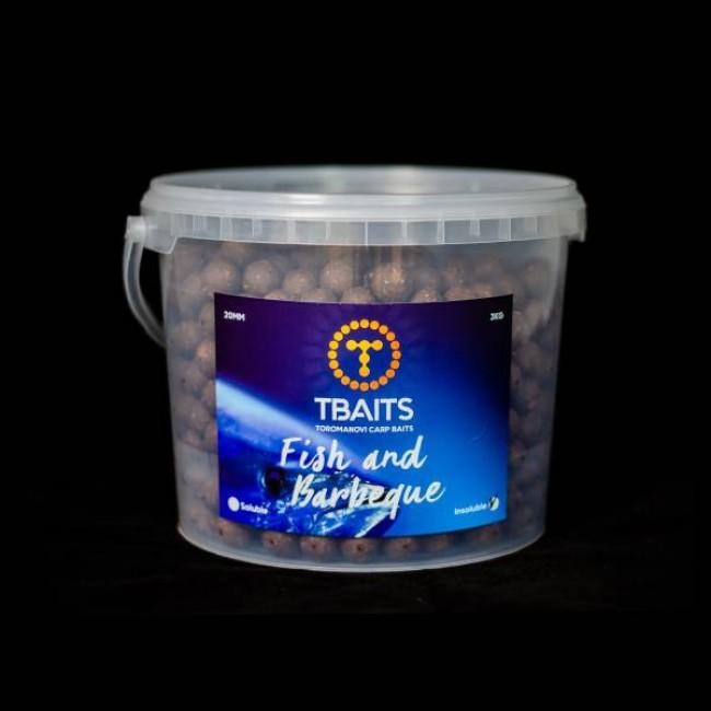 Кофа протеинови топчета T-BAITS Fish & Barbeque, 20 mm, 3 kg | www.CARPMOJO.com