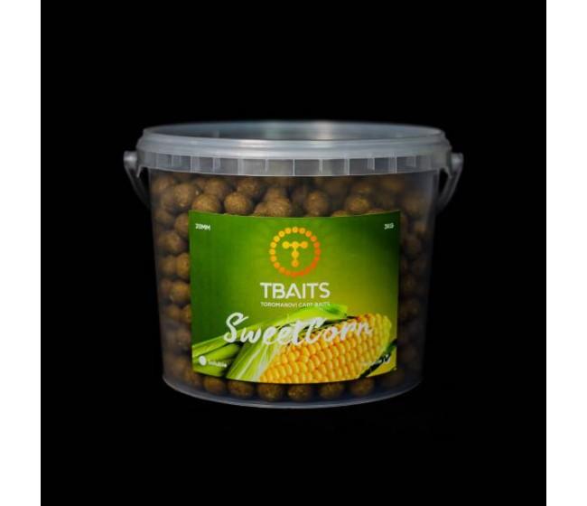 Кофа протеинови топчета T-BAITS Sweetcorn, 20 mm, 3 kg | www.CARPMOJO.com