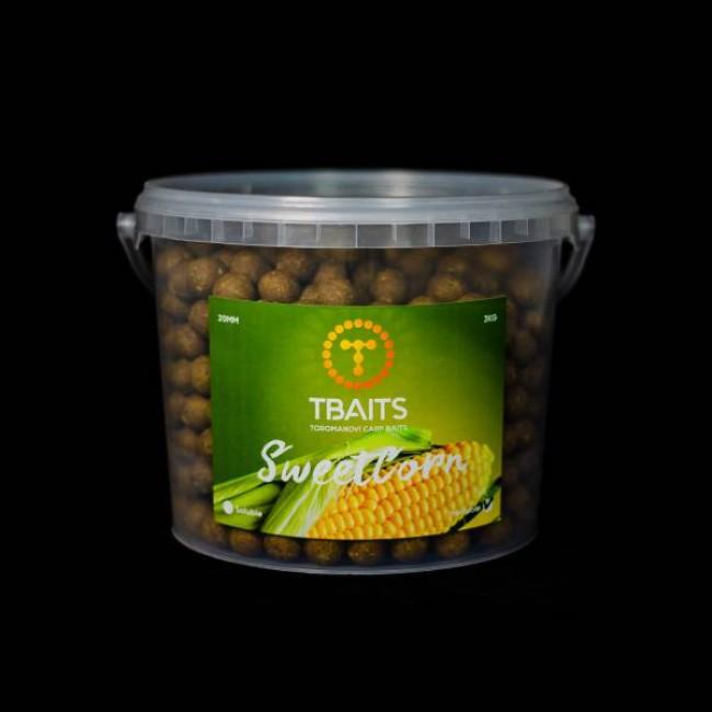 Кофа протеинови топчета T-BAITS Sweetcorn, 20 mm, 3 kg   www.CARPMOJO.com