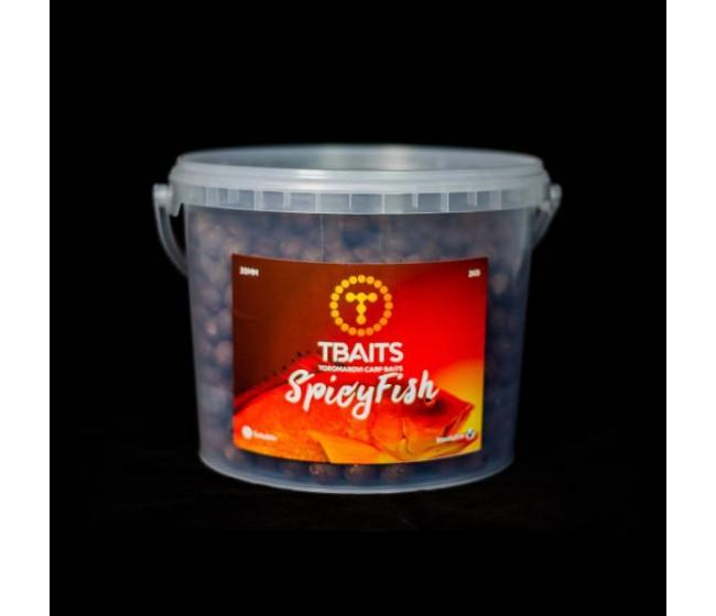 Кофа протеинови топчетаT-BAITS Spicy fish, 20 mm, 3 kg | www.CARPMOJO.com
