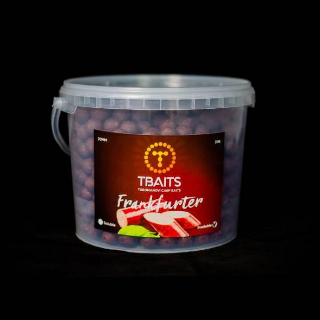 Кофа протеинови топчета T-BAITS Frankfurter, 20 mm, 3 kg