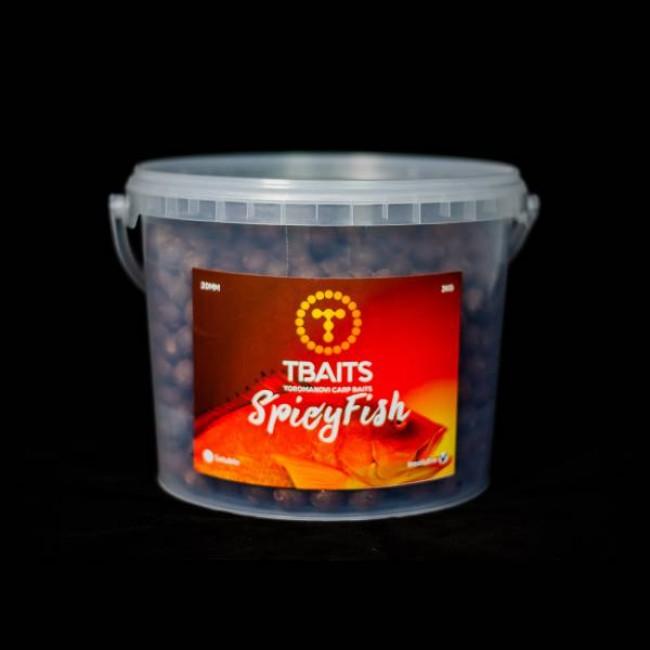 Кофа протеинови топчетаT-BAITS Hot fish, 20 mm, 3 kg