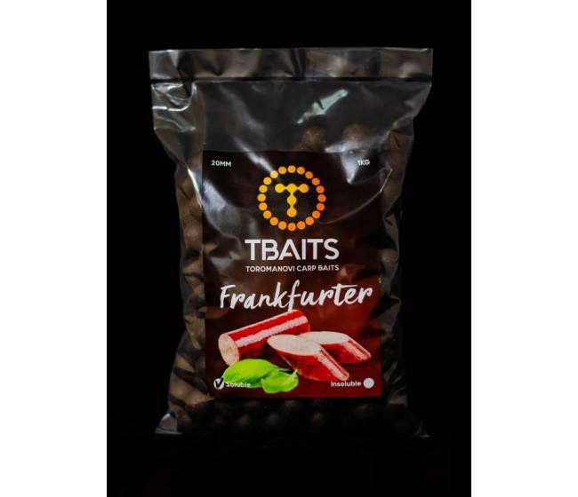 Пакет протеинови топчетаT-BAITS Frankfurter, 20 mm, 1 kg | www.CARPMOJO.com