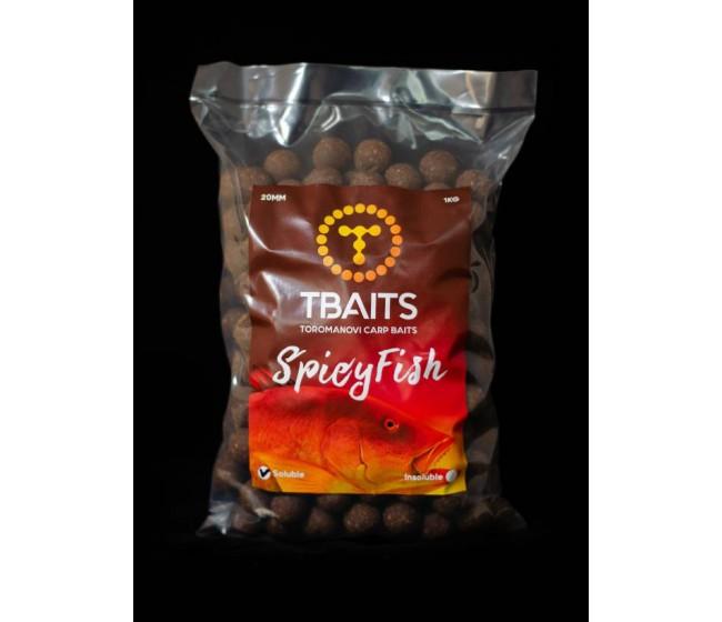 Пакет протеинови топчета T-BAITS Spicy fish, 1 kg | www.CARPMOJO.com