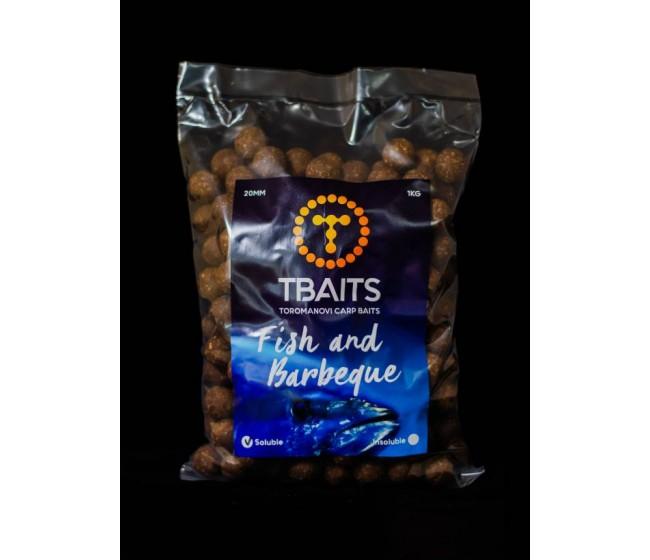 Пакет протеинови топчетаT-BAITS Fish and Barbeque, 20 mm, 1 kg | www.CARPMOJO.com
