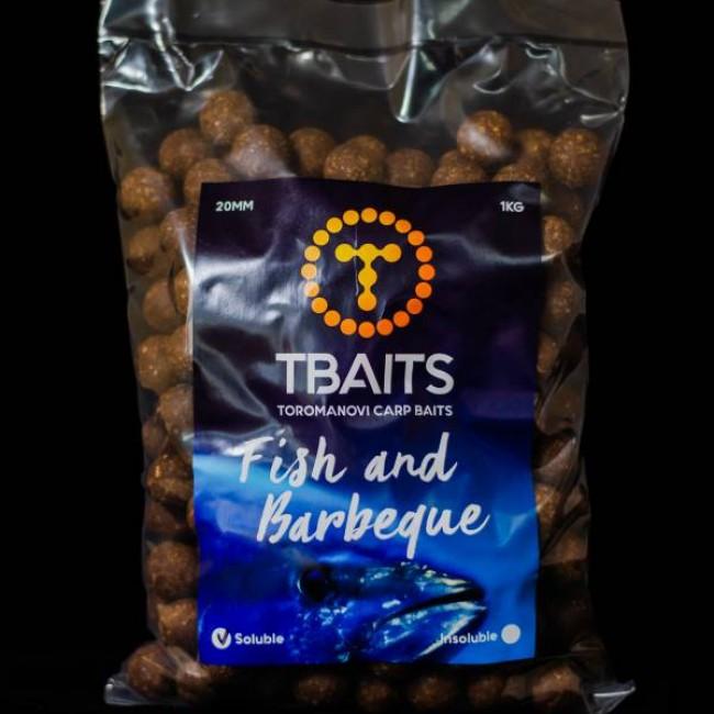 Пакет протеинови топчетаT-BAITS Fish & Barbeque, 20 mm, 1 kg