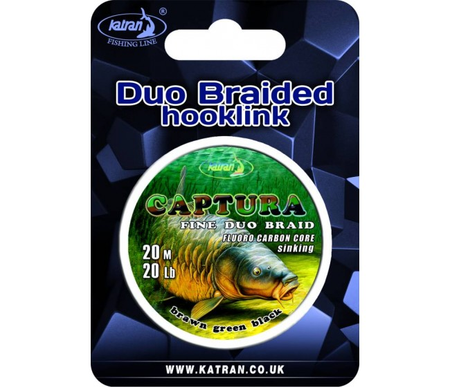 Плетено влакно за монтажи с флуорокарбонова сърцевина KATRAN CAPTURA, 20 m | www.CARPMOJO.com